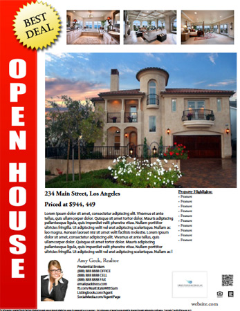 Open House Flyer Template Free - Free realtor flyer templates