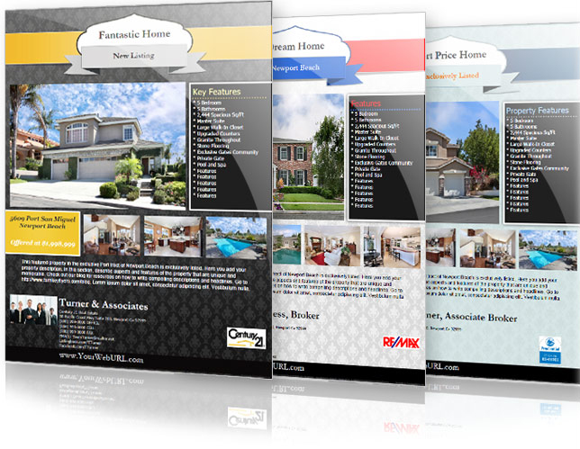 Real Estate Flyers Templates And Listings Software Turn