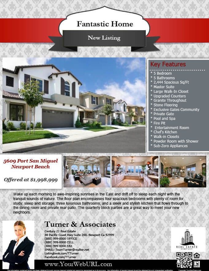 free real estate flyer template