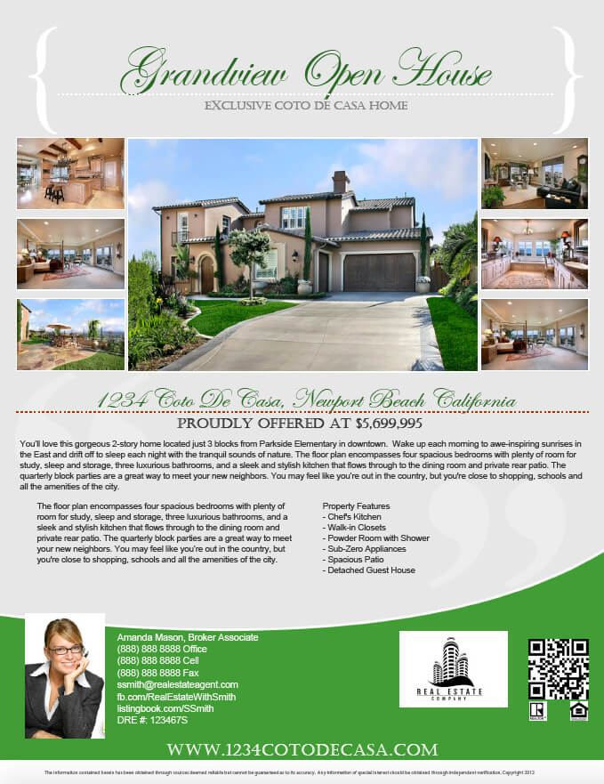 Gallery turnkey flyers for House brochure template