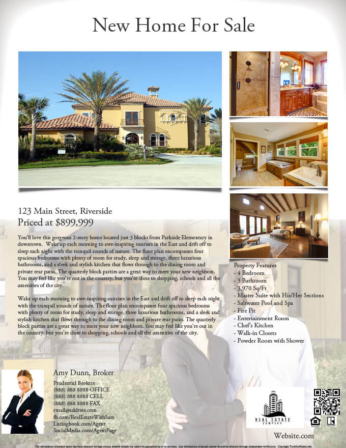 sample real estate flyer - Military.bralicious.co