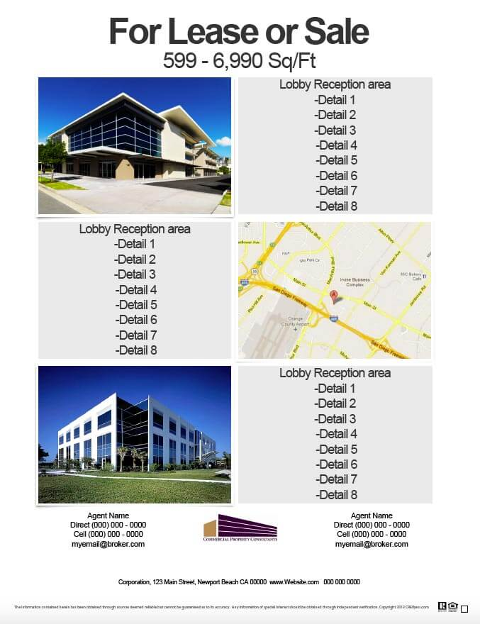 Commercial Real Estate License : Commercial real estate flyers designs single user