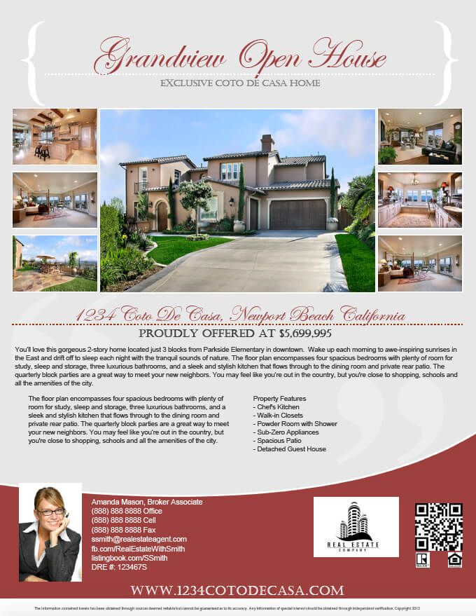 How to make a PDF real estate flyer StepbyStep Turnkey Flyers – Open House Flyers