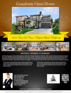 Turnkey Flyers Top Producer Package Designs One Agent - Broker open house flyer template