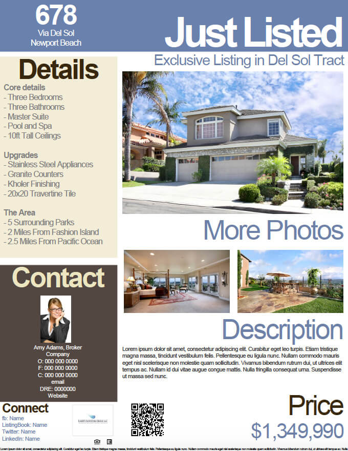 how to convert your listing flyer into an open house flyer